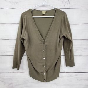 14th & Union V-neck Button Front Cardigan